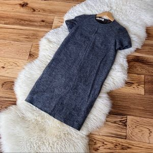 Cacharel Grey Wool Lined Dress with Pockets XS
